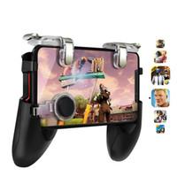 контрольные игры для android оптовых-PUBG Игровой контроллер для PUBG Мобильный триггер для Android iphone Геймпад Кнопка AIM L1R1 Джойстик