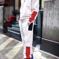 pantalones sueltos mujer s al por mayor-19SS FORMULA SWEATPANT Pantalones Retro Street Side Logo Cómodo algodón holgado Fit Sport Mujeres Pareja para hombre Pantalones de diseñador HFWPKZ074