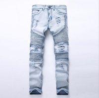 schwarze skinny jeans mode männer großhandel-2019 Frühjahr neue Männer Jeans schwarz klassische Mode Designer Denim Skinny Jeans Männer lässig hochwertige Slim Fit Hose