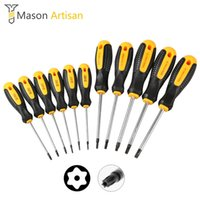 Wholesale torx screwdriver hole resale online - 11Pcs Cr V Torx Screwdriver Set with Hole Magnetic T5 T30 Screw Driver Set Kit for Telephone Repair Hand Tool
