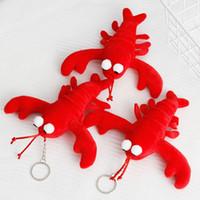 ingrosso ornamenti personalizzati-17 cm creativo gambero bambola giocattolo gamberetti peluche ciondolo ornamenti ciondolo figurine regalo personalizzato portachiavi regalo l154