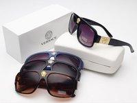 quadratische schutzbrille großhandel-2019 0Versace New Classic Polarisierte Sonnenbrille Männer Frauen Driving Square Frame Sonnenbrille Männliche Schutzbrille # 12