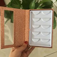 bandejas de cílios venda por atacado-5 pares cílios livro vazio caixa de embalagem de cílios private label chicote bandeja cílios bonitos FDshine