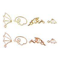 Wholesale pendant frames for sale - Group buy Evil Angel Wing Metal Frame Pendant Open Bezel Setting UV Resin Jewelry Charm
