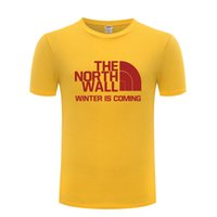 Wholesale game thrones clothing for sale - Group buy Mens The North Wall Tshirts Teenager Summer Game of Thrones O neck Short Sleeved Tops Tees Clothing
