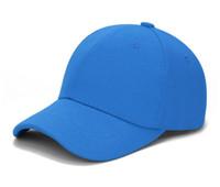 mavi kapaklar beyzbol toptan satış-Mix 10 adet Beyzbol Şapkası Klasik Ayarlanabilir Düz Şapka Erkek Kadın Unisex renk beyaz siyah mavi