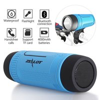 Wholesale light portable power bank online – Zealot S1 Bicycle Light With Bluetooth Speaker Outdoor Portable Subwoofer Bass Wireless Column FM radio Power Bank
