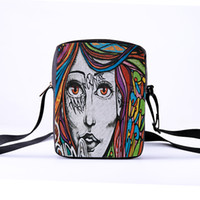 Wholesale body paintings nude for sale - Group buy Customized series fashion women s men s shoulder diagonal package painted figures series ladies Messenger bag children s leisure