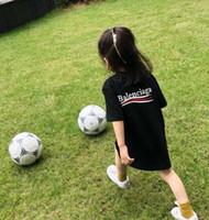 erkek gömlekleri kız tasarımı toptan satış-19ss Lüks Avrupa Milano Los Angeles Paris Yüksek kalite tasarım Tshirt Moda çocuk erkek Kaplan Kafası Yıldız T Gömlek kızlar için t shirt