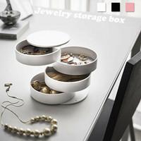halskette lagerrolle großhandel-Reiseschmuck 360 ° Roll Case Box Organizer Aufbewahrungsbox Halskette Ohrring