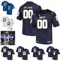 Wholesale college football resale online - NCAA Navy Midshipmen Jerseys Zach Abey Jersey Malcolm Perry Keenan Reynolds Joe Cardona Perry Olsen College Football Jerseys Custom Stitched