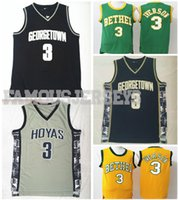 7f4cf288c6d4 New Georgetown College Basketball Throwback Jerseys Hoyas player Allen  Iverson  3 jersey Bethel high school classic retro sixer uniform