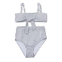 maillot de bain léopard noir achat en gros de-Perimedes femmes noir et blanc rayé plage micro bikini maillot de bain extrême Sexy noué Bikini maillot de bain maillot de bain # g30