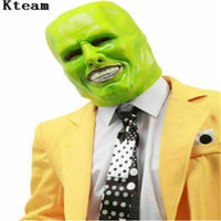 Wholesale jim carrey for sale - Group buy New Hot The Jim Carrey Movies Mask Cosplay Green Mask Costume Adult Fancy Dress Face Halloween Masquerade Party Cosplay Mask