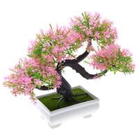 Wholesale plastic topiary trees resale online - Topiary Mini Artificial Tree Home Decor Plant Pot Ornament Potted Plastic Greet