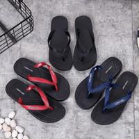 kore erkek sandalet toptan satış-Yaz 2019 moda kaymaz terlik öğrenciler açık sandalet severler Kore versiyonu severler düz dipli ilkel stil flip-flop erkekler