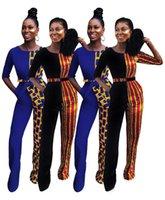 ropa afroamericana al por mayor-Ropa de mujer Mono de mujer African Dashiki Mejor venta de patchwork para mujer de Europa y América, versión impresa, mono casual
