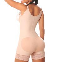 ingrosso cintura-Fajas Reductoras Busto aperto Clessidra Forme Cintura addominale Tummy Control Slimmer Body Body Power Plus Taglie Shapewear Body CWS8505