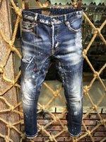 jeans de marca ao ar livre venda por atacado-Calças Designer jeans mens moda de luxo Buraco Calças DS2 calça jeans Rock Revival calça jeans Hip hop marca de alta qualidade Sweatpants Casual ao ar livre