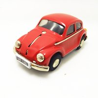 tin car toy achat en gros de-[TOP] Collection pour adultes Rétro jouet en métal Tin The Beetle voiture Mécanique jouet Mécanique jouet chiffres modèle enfants cadeau
