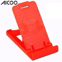 tabletler için ayarlanabilir katlanabilir sehpa toptan satış-AICOO Katlanır Cep Telefonu Kickstand Evrensel Çok pozisyonlu Ayarlanabilir iPhone iPad OPP Cep Telefonu Tabletler için Uygun Standı