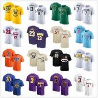 kısa kollu kişiselleştirilmiş t toptan satış-Kişiselleştirilmiş özelleştirme Baskılı Erkek T-shirt Kısa Kollu Mesaj Formalar Tişörtler sipariş üzerine herhangi numarası ve ismi T Shirts