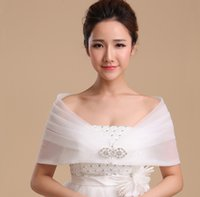 Wholesale accessories white short dress for sale - Group buy 2019 New Bride s Wedding Dress Shawl White and Red Spring Summer Bridesmaid s Party Banquet Wraps Bridal Accessories