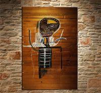 art de l'art de l'or achat en gros de-Jean Michelle Basquiat - Gold Griot 1984,1 Pieces Toiles Art mural Peinture à L'huile Décoration