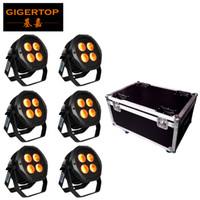 Wholesale par lights online - 6IN1 Charging Flightcase Pack x18w in1 RGBAW UV IP65 Waterproof Battery Operated WIFI APP Optional LED Par Light