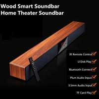 mühür için bluetooth toptan satış-Lüks Ev Sineması Soundbar Hoparlör ahşap Bluetooth Surround Mühürlü Ahşap Akıllı TV TV için Smart Soundbar Hoparlör Destek MP3 Çalar
