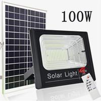 Wholesale solar speakers resale online - Outdoor Light LED Solar Lights Power W W W W Flood Light bluetooth Speaker IP65 Waterproof Energy Saving