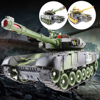 Wholesale toy chassis for sale - Group buy 44CM RC tank Military Tactical Vehicle Lighting Off road Tracked Remote Control Tanks Model Chassis world of tanks Toys For Boys Y200317