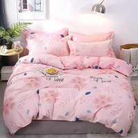 Wholesale orange bedding sets queen resale online - Floral Bedding Set For Girls Elegant Sweet Pink Duvet Cover King Size Queen Twin Full Single Comfortable Bed Cover with Pillowcase