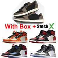 filé tozu toptan satış-Yıl hürmet etmek Ev 1s Basketbol ayakkabıları Of 1s Bred Powder Blue 1s Kil Yeşil 1 OG Gölge Shattered Arkalık Çam Yeşil Rookie