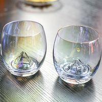placas de artesanato venda por atacado-13 oz Cristal Ovo Copo Copo De Vidro De Vinho Criativo Iceberg Ion-chapeado Rainbow Transparente Casa Sala de Artesanato MMA1792