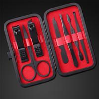 ingrosso kit di corsa inossidabile-7pcs / set New Manicure Nail Clippers Pedicure Set portatile da viaggio Igiene Kit acciaio inossidabile Cutter Set di strumenti di supporto all'ingrosso