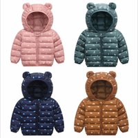 Wholesale girls cute down jackets for sale - Group buy Children Winter Thin Hooded Coat Kids Down Jacket Baby Cotton Jacket Cute Boy Girls Animal Printing New Fashion Outerwear