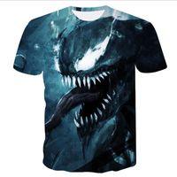 ingrosso magliette supereroe in cotone-Venom Maglietta degli uomini Superhero Cool Anime Camiseta Homme 100% cotone Originalità T-shirt comica M-3XL Spedizione gratuita