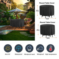 Wholesale patios covers resale online - Round D Waterproof Outdoor Patio Garden Furniture Covers Rain Snow Dust Proof Cover Furniture Set Table Chair Protector