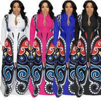 elegantes faldas hasta los tobillos al por mayor-Vestido de invierno de manga larga de las mujeres diseñador Tobillo-longitud vestido de una sola pieza falda flaca de alta calidad elegante clubwear de lujo klw0285