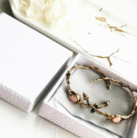 Wholesale hoop earrings online - Famous designer jewelry Vintage Old Wreath Pearl Vacation Earrings letter C and D earrings women luxury brand jewelry gifts