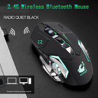 ingrosso bluetooth del mouse silenzioso-2.4G Wireless Gaming Mouse ricaricabile Gaming Mouse ergonomico silenzioso 7 incandescenza di colore Mouse Bluetooth per Tablet Laptop