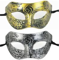 ingrosso cavalieri in plastica-Masquerade Ball Masks Plastic Maschera cavaliere romano Maschere maschere e maschili per donna Bomboniere per feste Dress Up