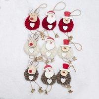 me senti bonito venda por atacado-3pcs / pack enfeites criativa Wool Felt Christmas Tree Pendant Casa Decoração bonito Elk madeira Decoração Pingente