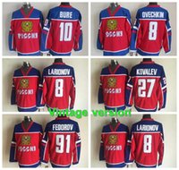 Wholesale olympics ice hockey for sale - Group buy Sochi Team Russia Hockey Jersey Olympic Alexander Ovechkin Russia Jersey Russian Alexander Ovechkin Olympic Mens hockey Jerseys