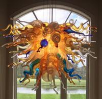 candelabros vintage al por mayor-Iluminación colgante Instridual Vintage Lámpara de cristal de Murano moderna Lámpara colgante Colgante Decorativo de lujo Lámpara de cristal soplado