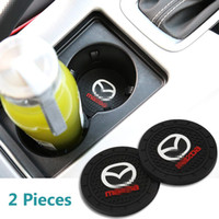 accesorios m6 al por mayor-2 Pcs 2,75 pulgadas de coches Interior Accesorios Anti Slip Mat Copa para para Mazda 2, 3,5,6, CX-5, CX-7, CX-8, M6, MX5, RX7, RX8, A8, CX9, MX6,