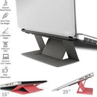ipad için duruyor toptan satış-YENI Taşınabilir Ultra İnce Macbook Tutucu için Standı Katlanabilir Dizüstü Dizüstü PC Masa iPad Bilgisayar için Standı ...