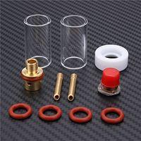 lente copo de vidro venda por atacado-11 pcs TIG Welding Torch Acessórios Stubby Gas Lens Glass Copo Bico Kit Para WP-9/20/25