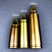 1000ML 304 stainless steel bullet head tumbler rocket tumbler water bottle vacuum flask bottle insulation coffee milk mug cup drinkware